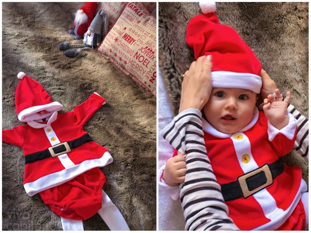 little santas helper baby girl
