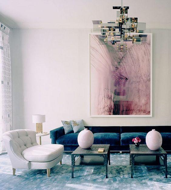 Salón cuadro abstracto