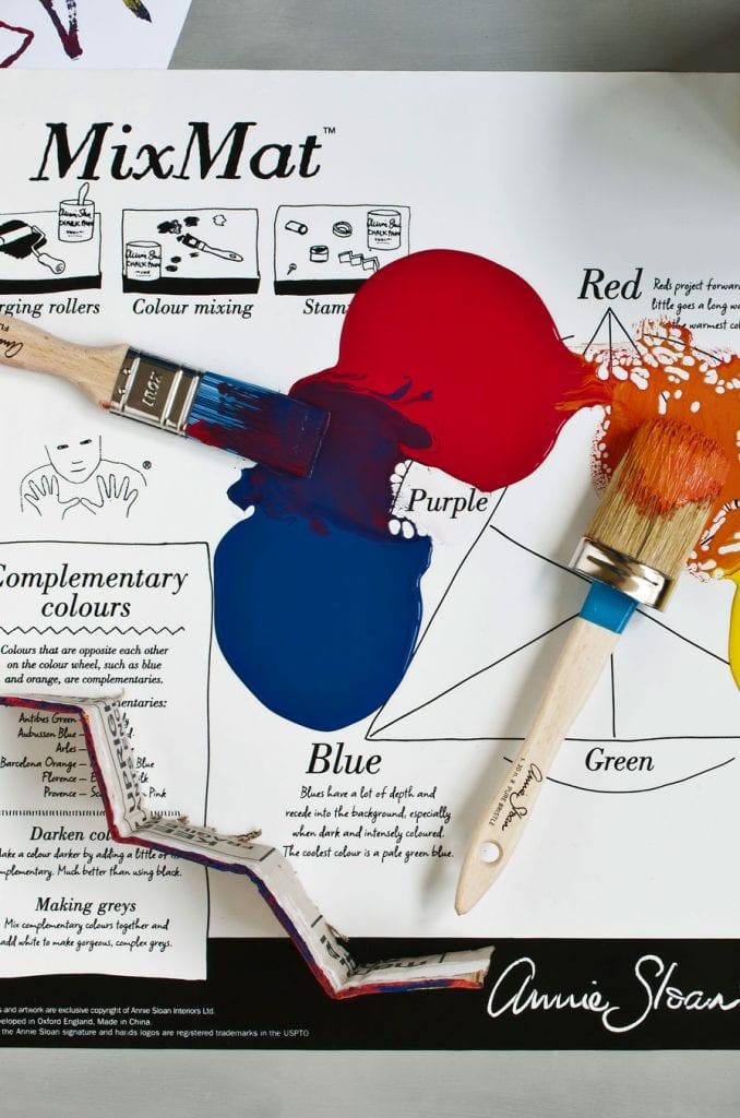 mixmat azul rojo brocha