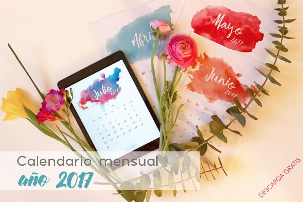calendarios para imprimir año 2017 descargar gratis