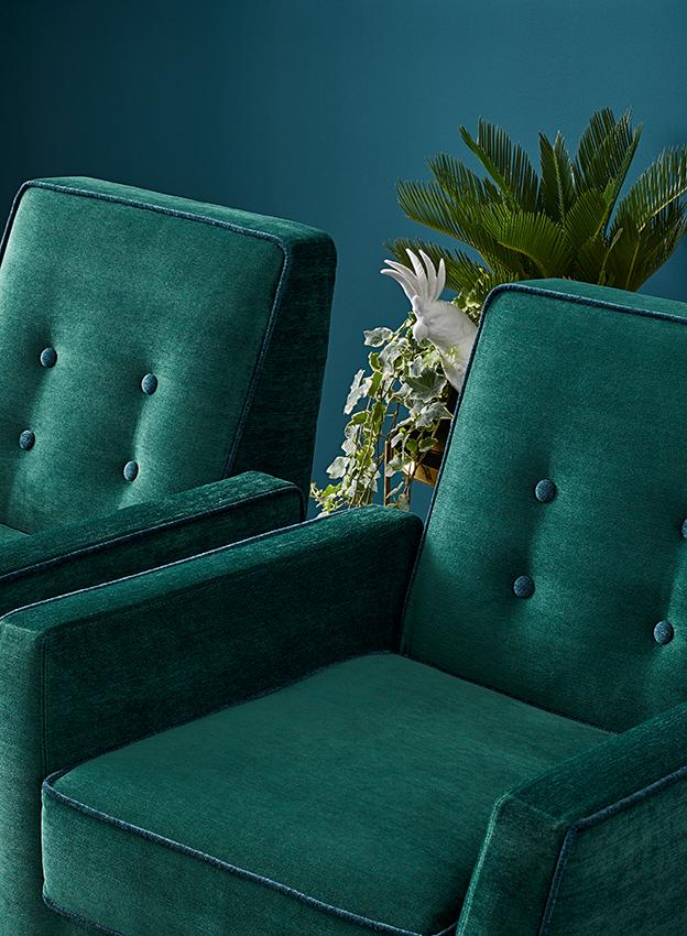 vivo butaca tapizada terciopelo verde kale