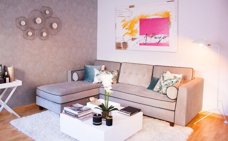 Vivo sofá tapizado aires mid-century