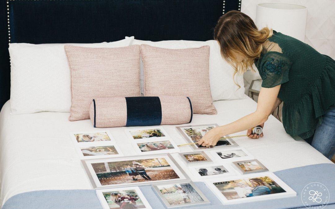 Cómo hacer una composición de fotos en la pared