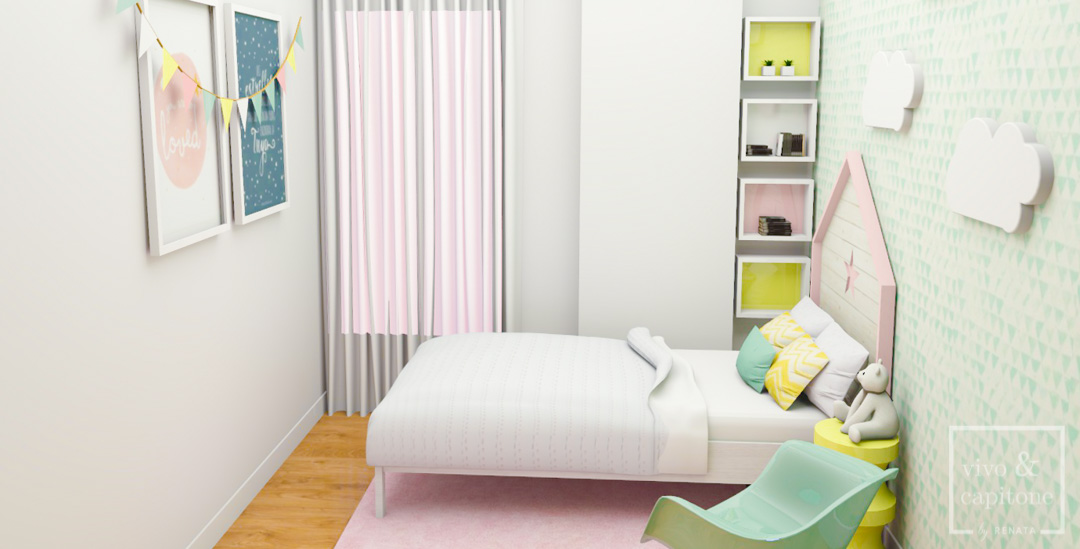 Habitación Infantil Niña Render