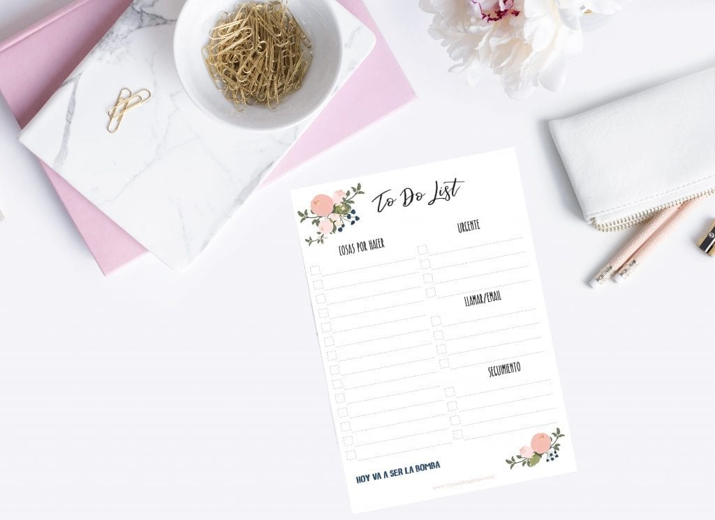 To Do List Proposito año nuevo