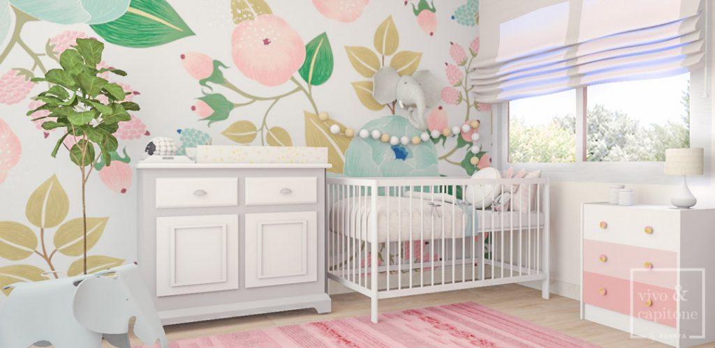 Papel pintado habitación niñas