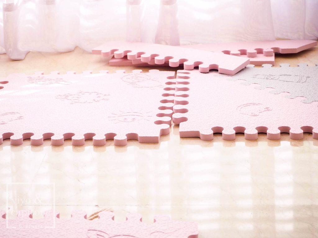 piezas de la alfombra para bebes
