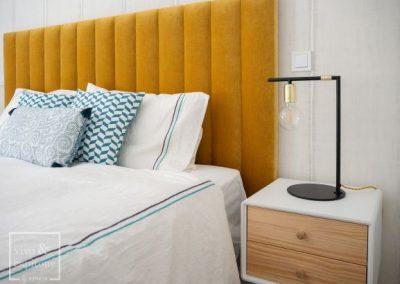 Dormitorio Mostaza y Azul
